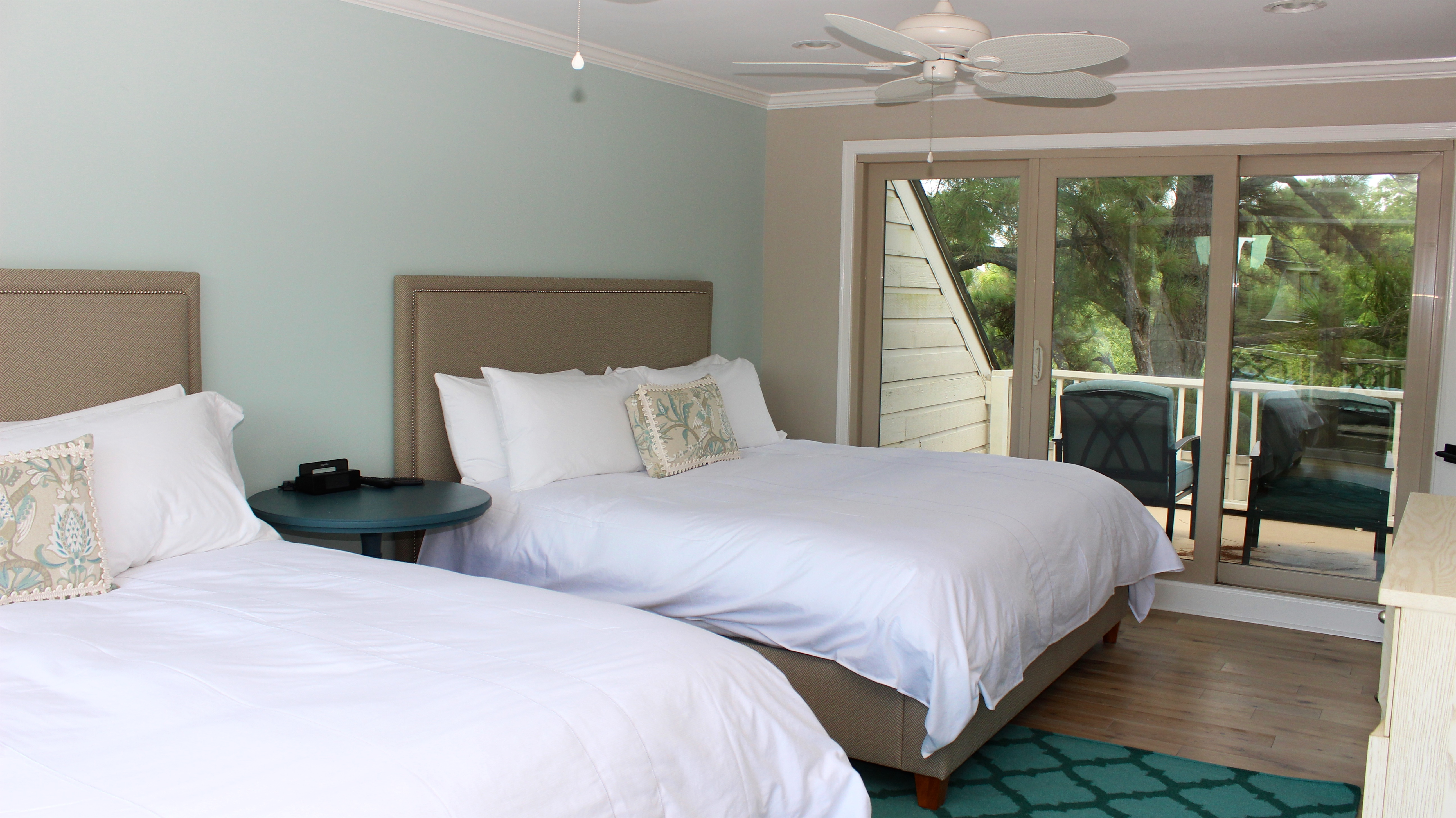 Step to one of the two sun decks to relax on the comfortable furnishings.