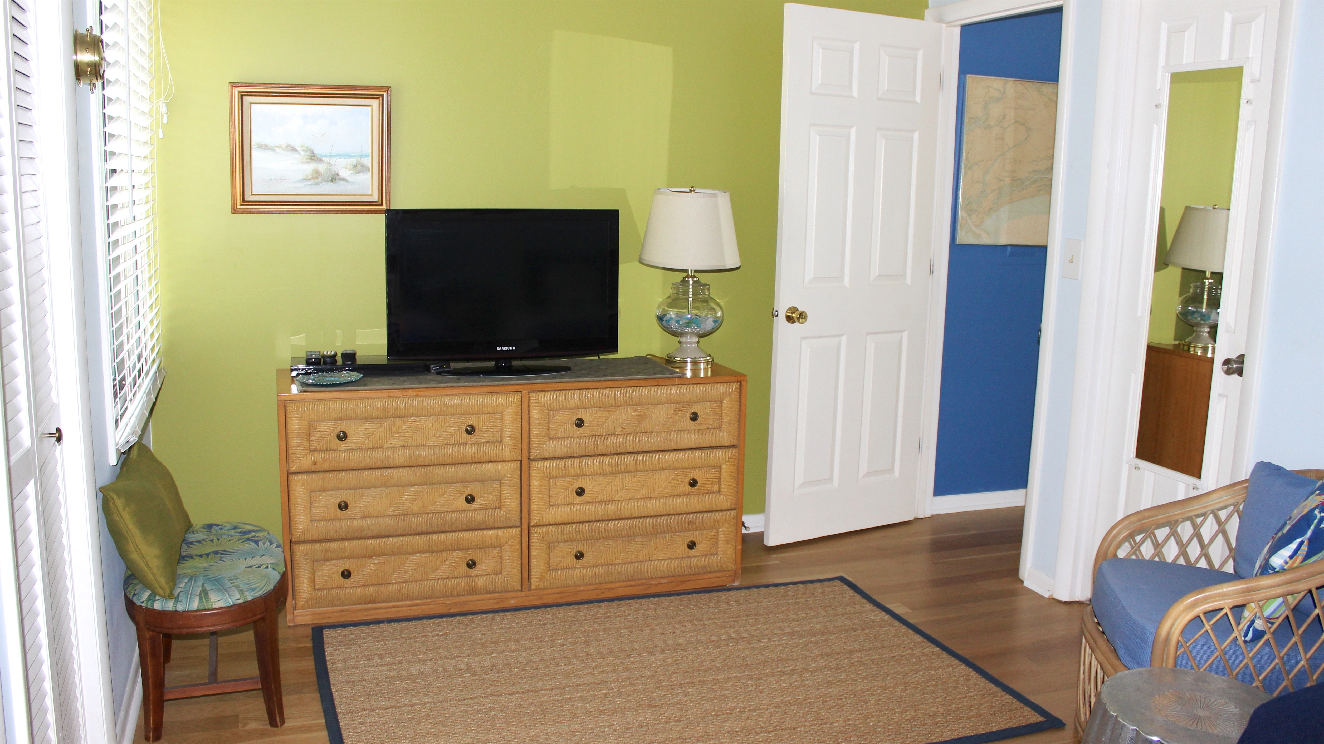 TV in second bedroom for your enjoyment!  The bath is accessible from this guest bedroom and also the hall.