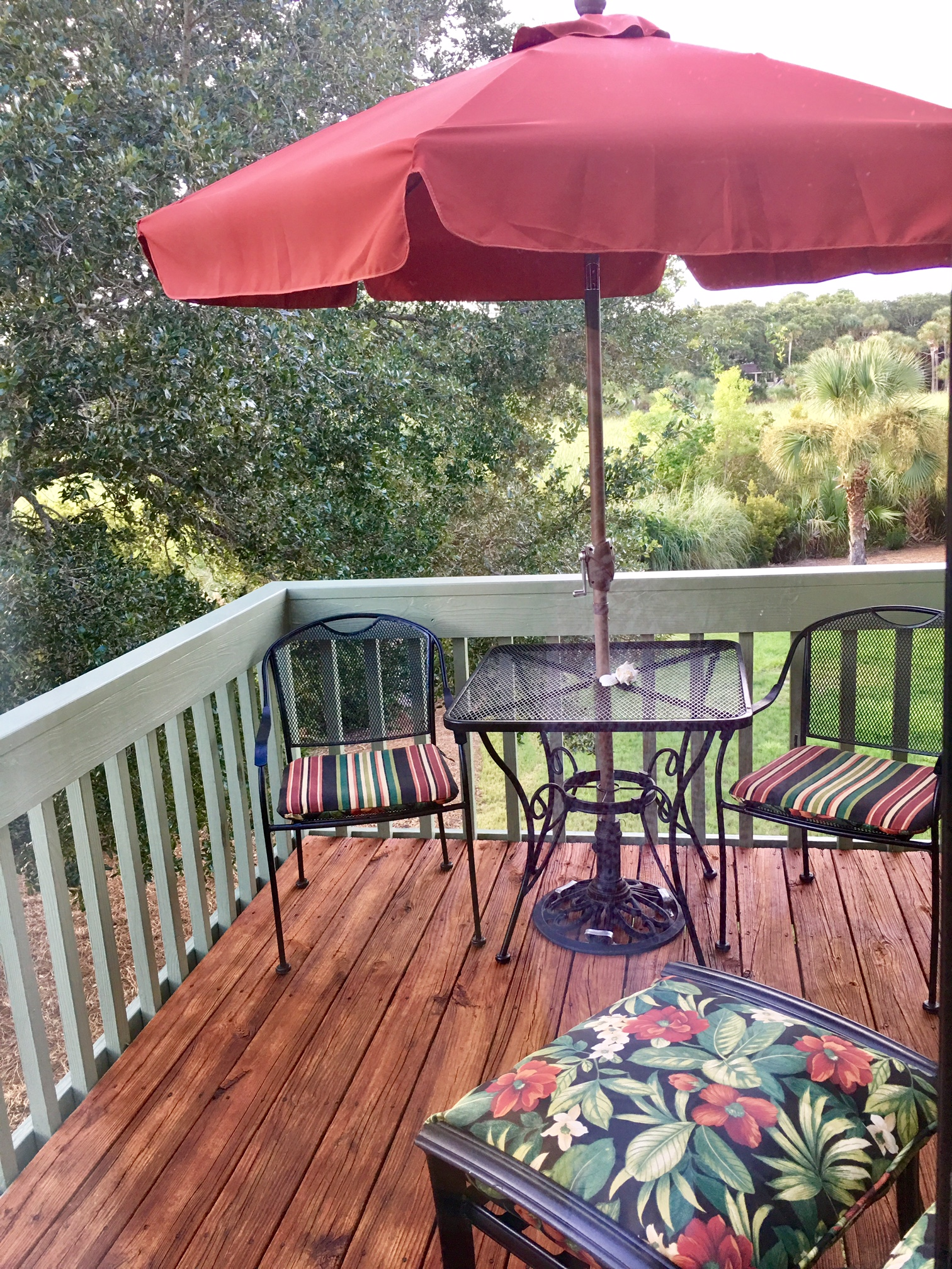 Relax with your morning coffee on the deck off the master bedroom.