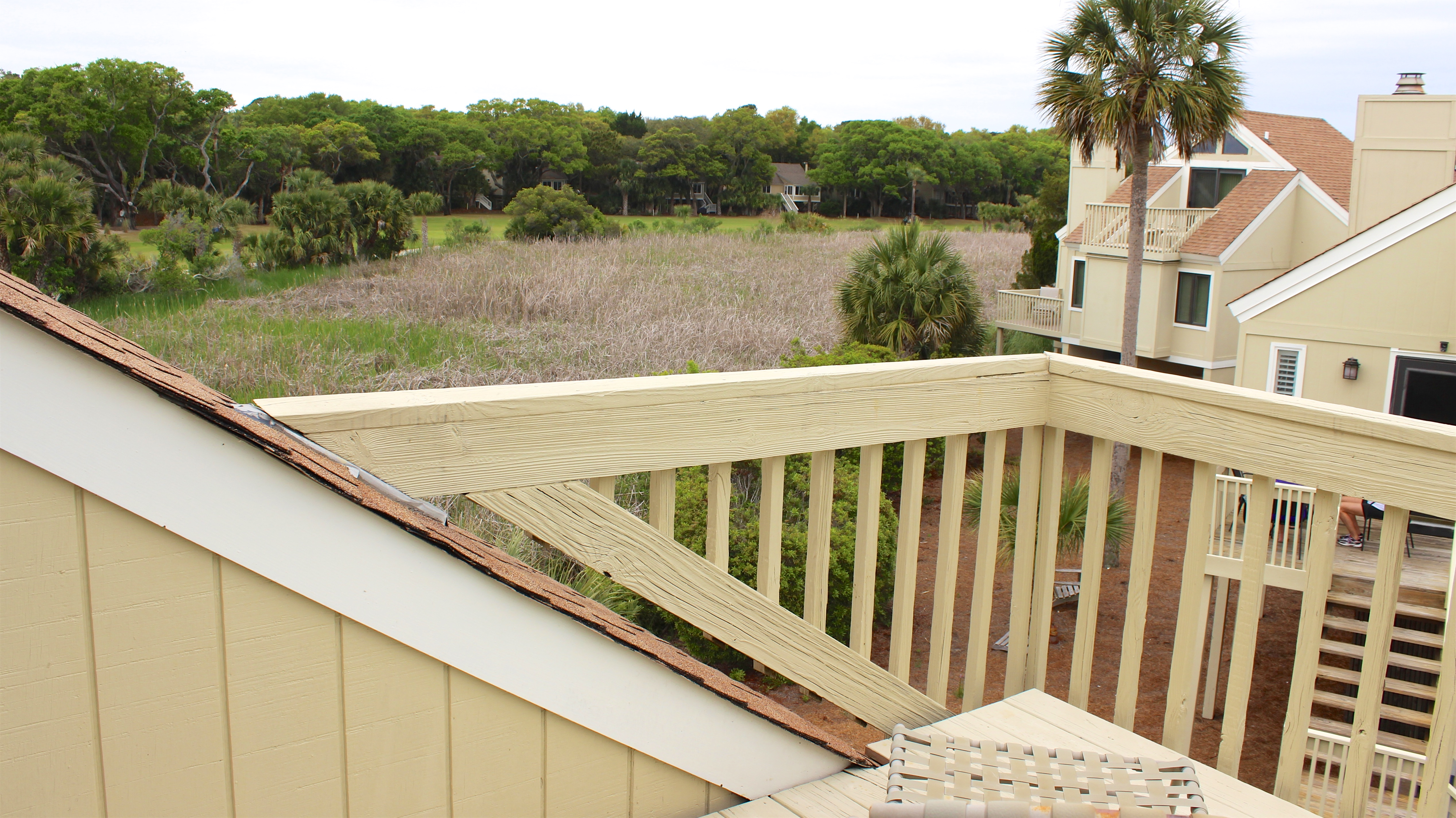 Enjoy panoramic views of the marsh from the upstairs deck.