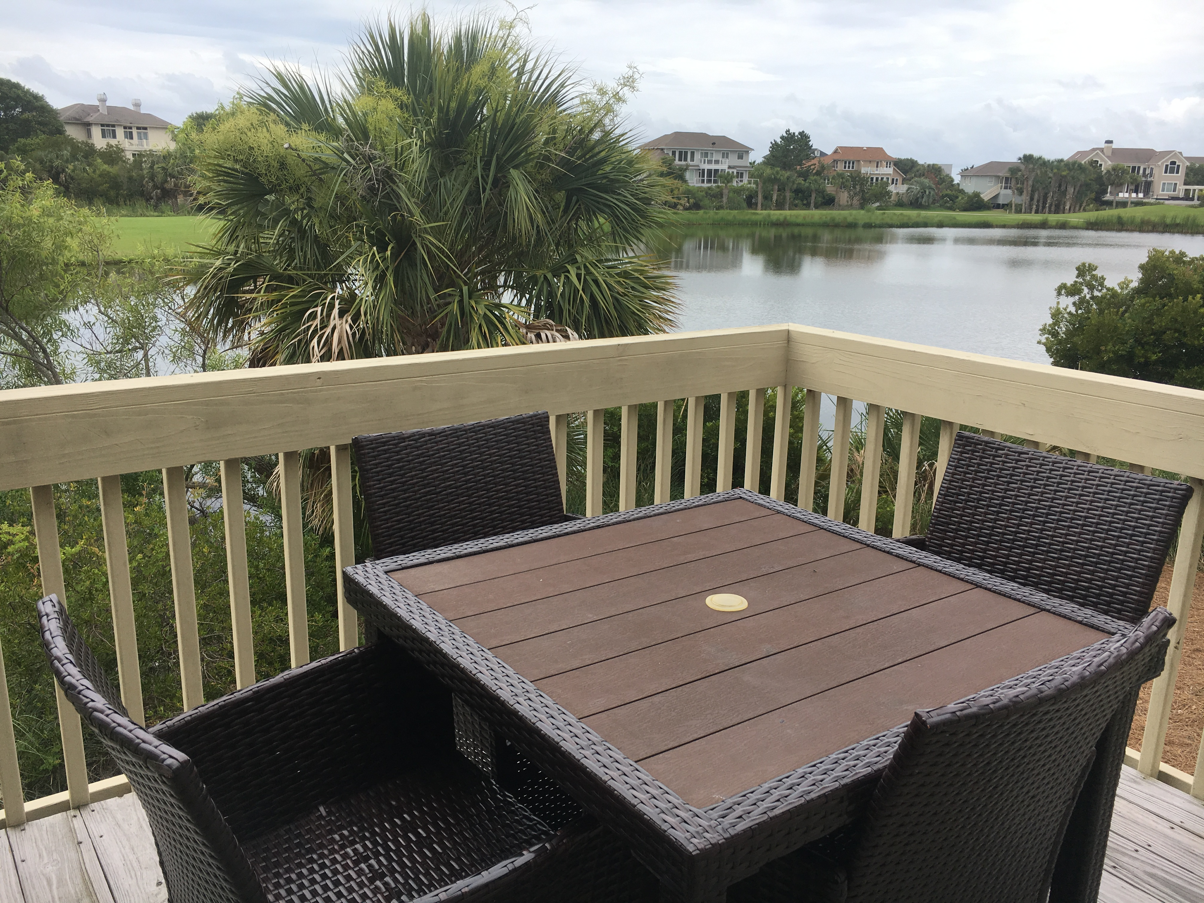 Enjoy the fabulous view over the large lagoon on the 11th fairway of the Ocean Winds course.  It is teeming with wildlife!  What a view!