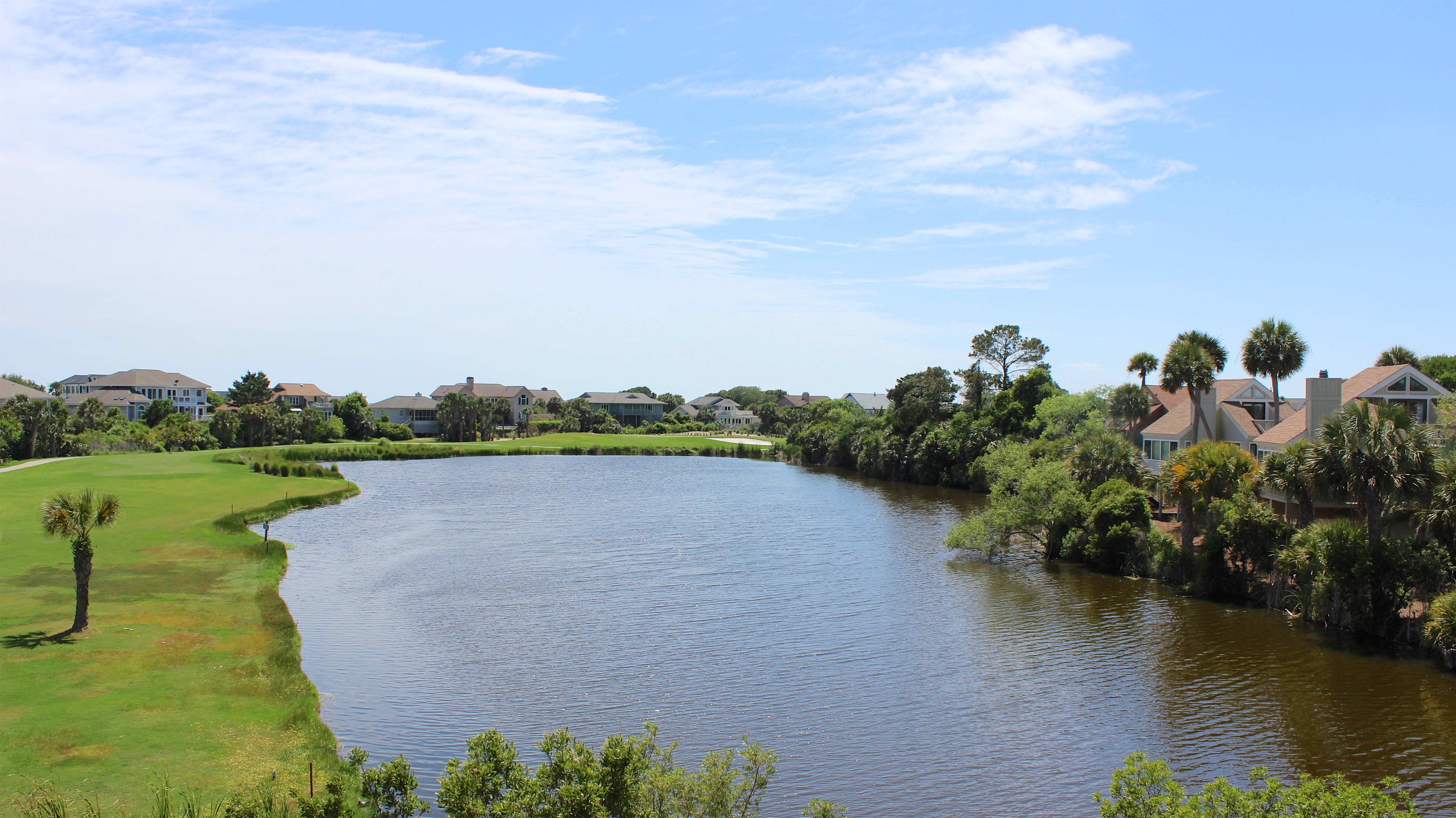 Watch the wildlife on the large lagoon.