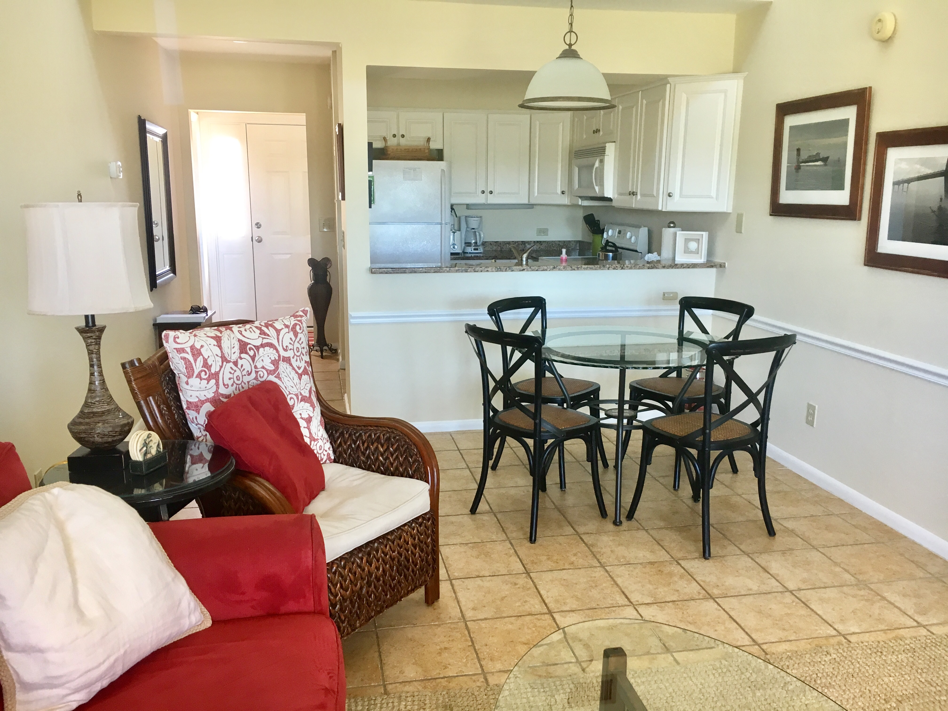 The open floor plan allows everyone to be involved in the activities whether making dinner or enjoying a favorite movie.