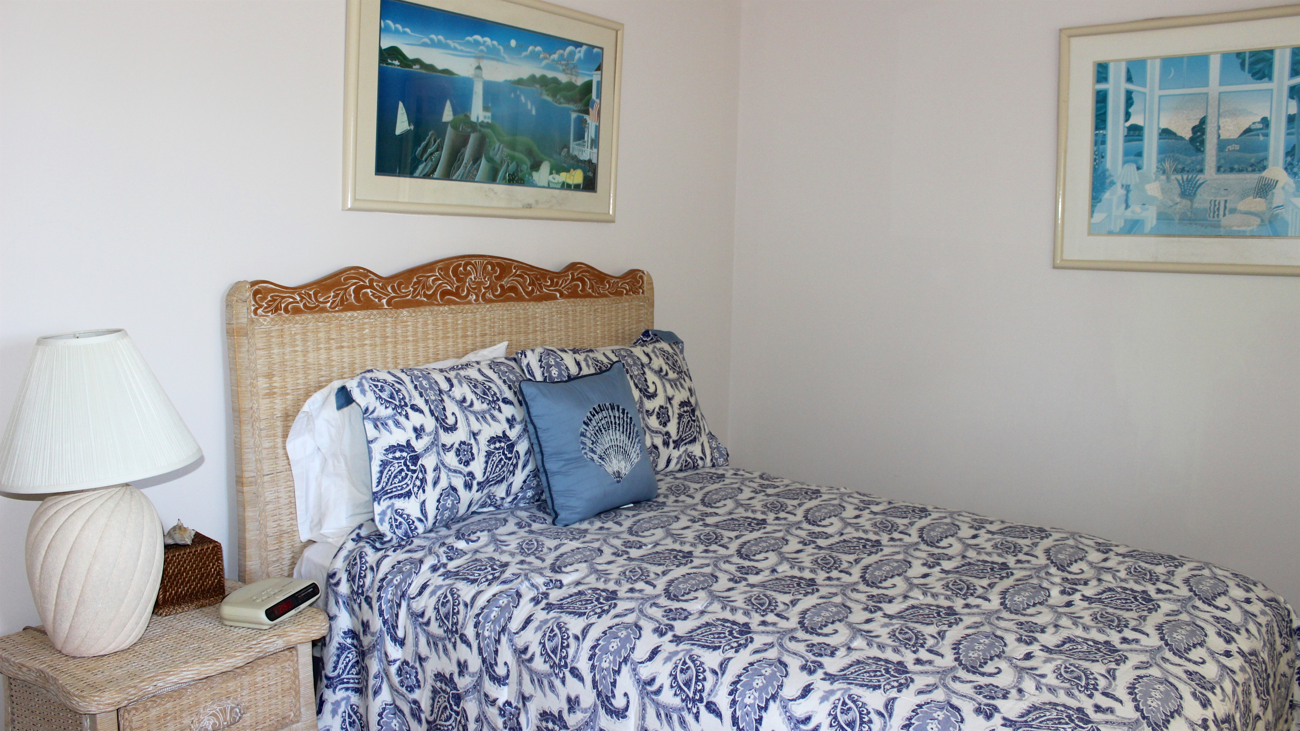 The 2nd bedroom on this floor has a full bed & TV.