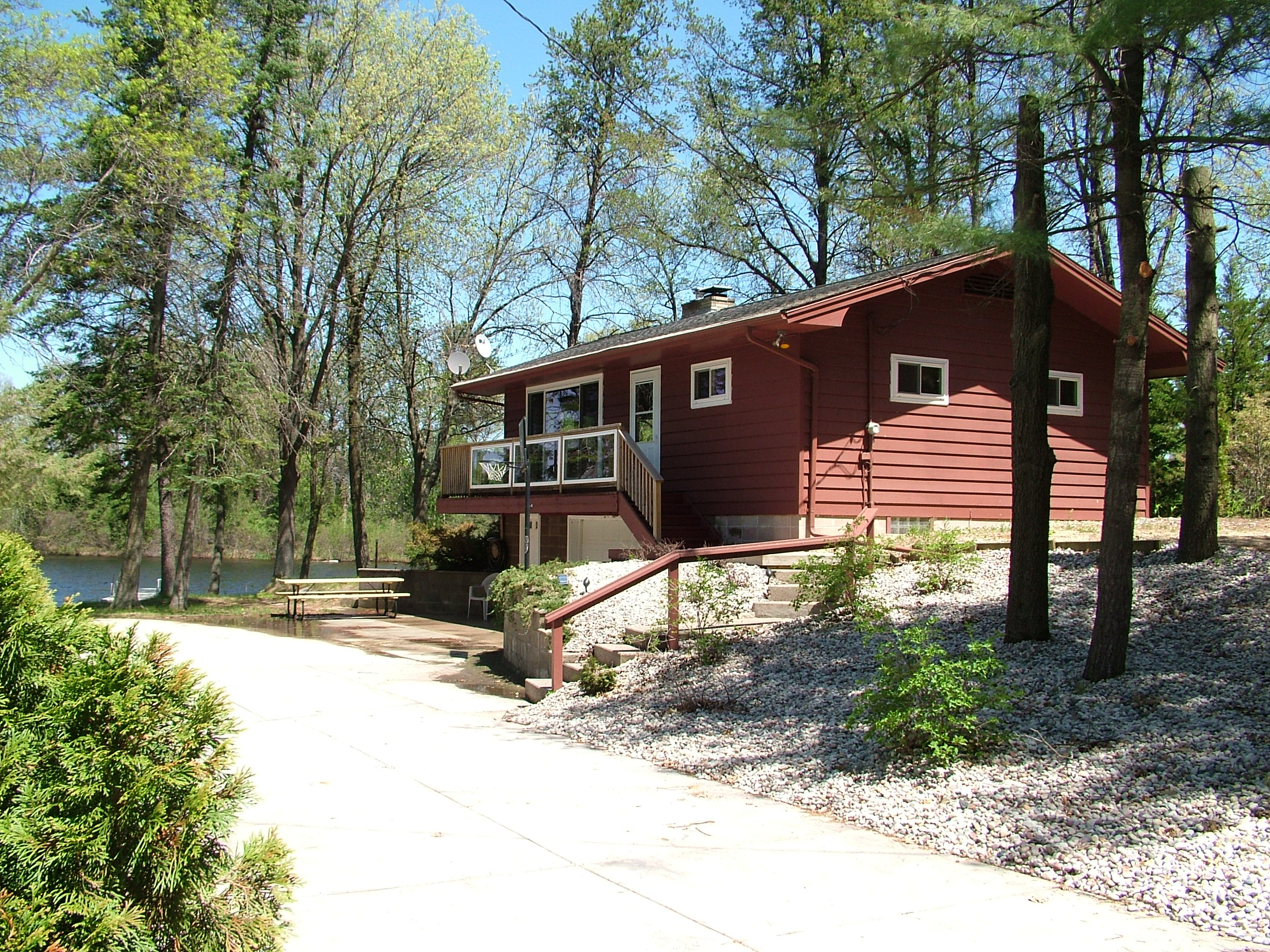 Fish tale cottage castle rock lake wi 2 bedrooms vacation for Fishing cabin rentals wisconsin