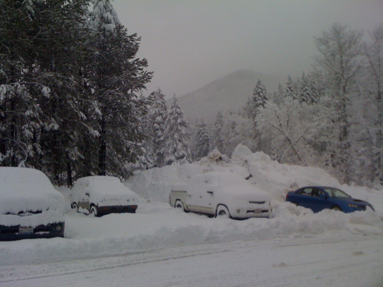 winter parking lot - .25 miles from house