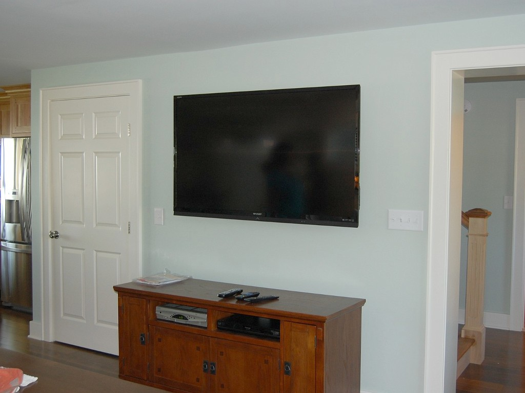 60-inch large screen TV in Living Room
