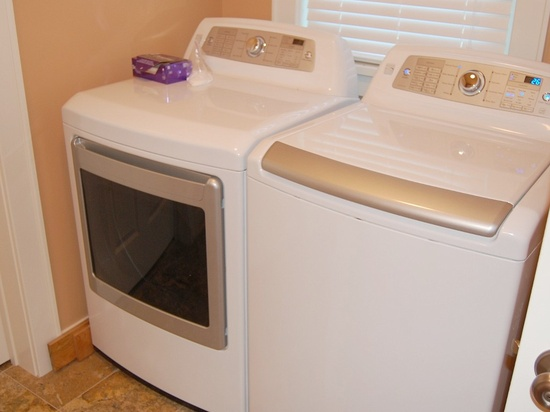 Laundry located in downstairs half bath.