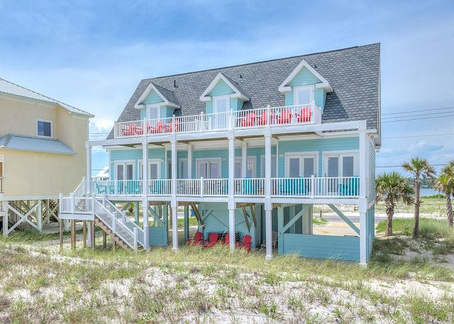 Blue Heron Beachfront 5 Bedroom Vacation Home Rental Gulf Shores Al With Pool 137372 Find Rentals
