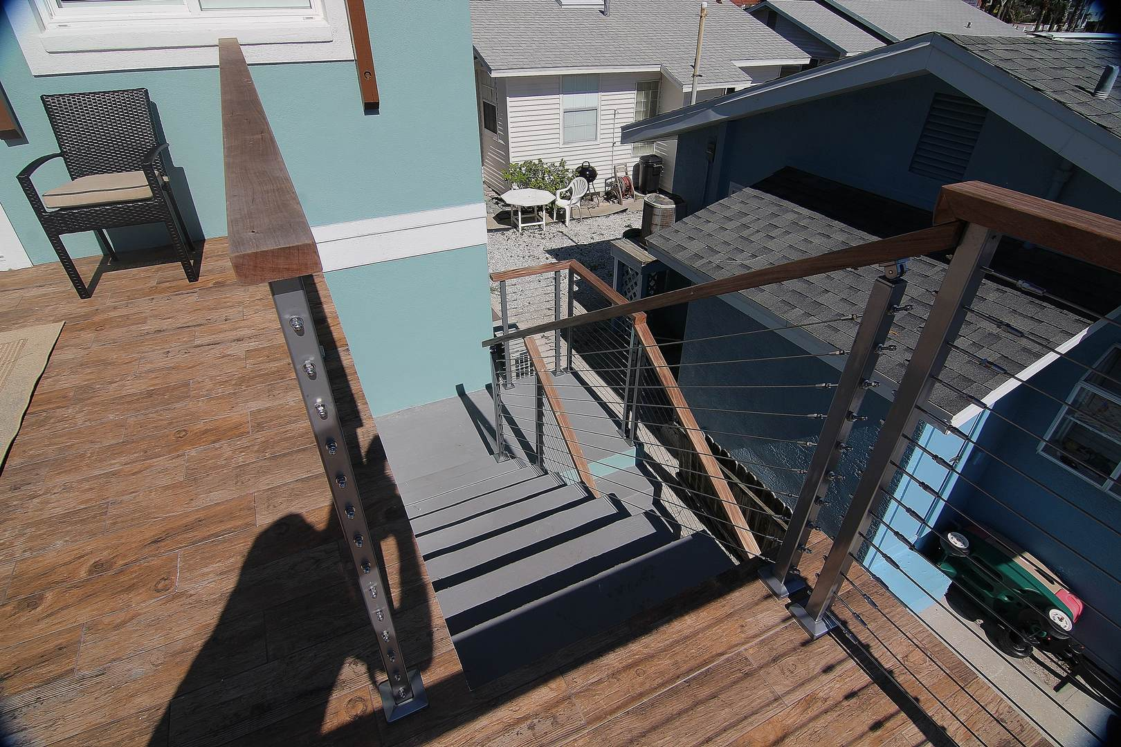 Stairs from Balcony