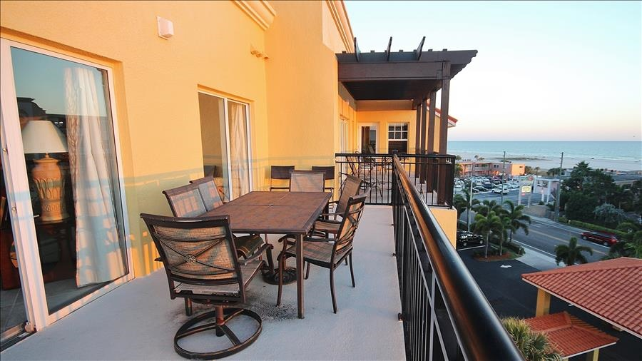 Balcony Seating at Sunset