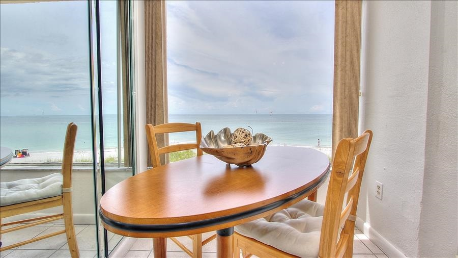 Dining Table with Beach View