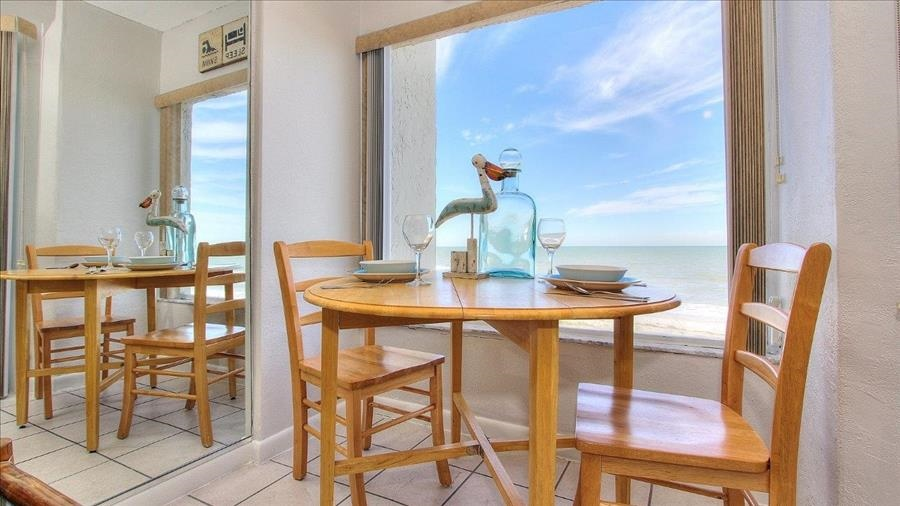 Dining Table & Large Window