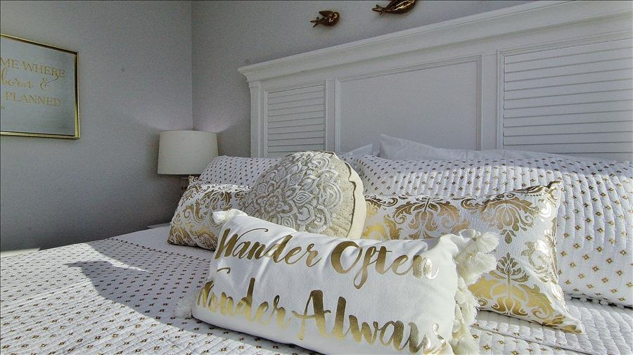 Gold & White Guest Room