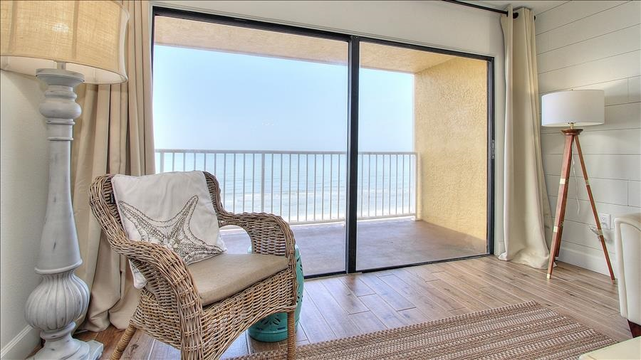 Living Room Seating & Balcony Access