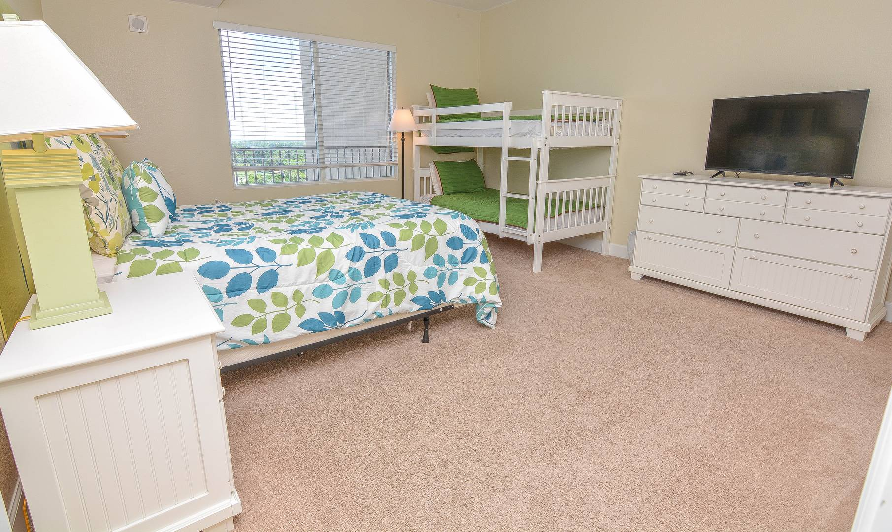 Guest Room w/ Bed and Bunks