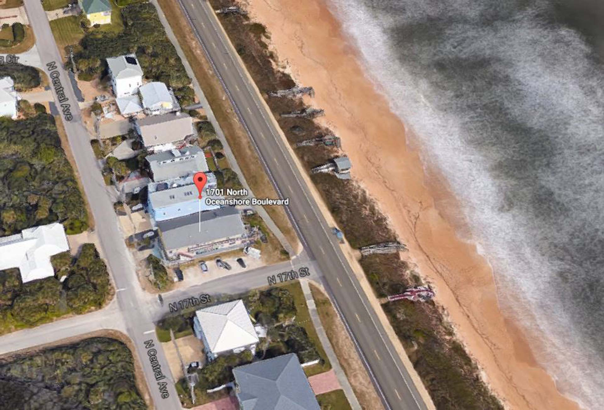 View of Beach from Above