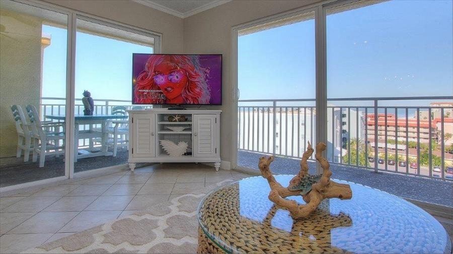 Living Room with Large Balcony
