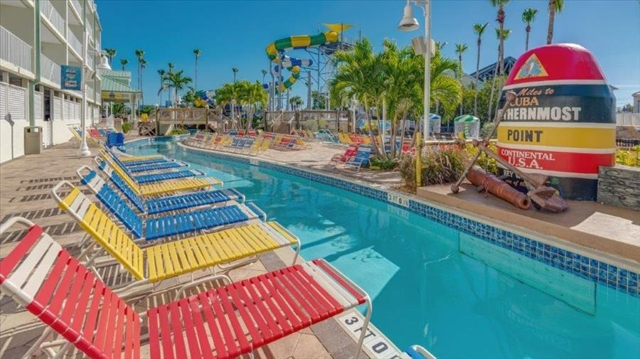 Lounge Chairs on Lazy River