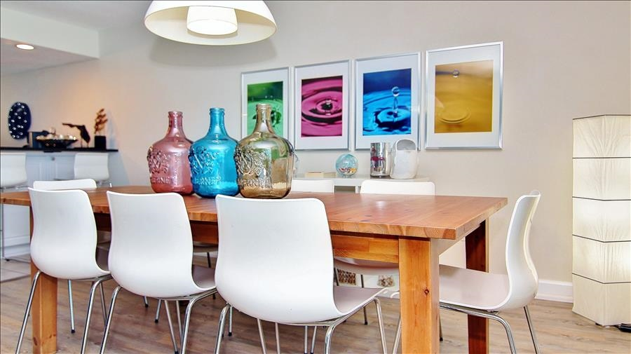 Dining Room w/Colorful Decor
