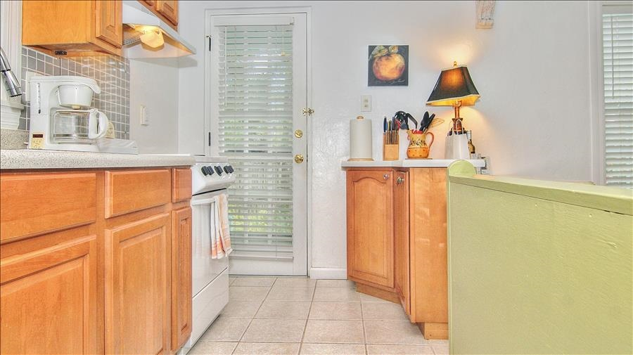 Kitchen with Back Door Entrance