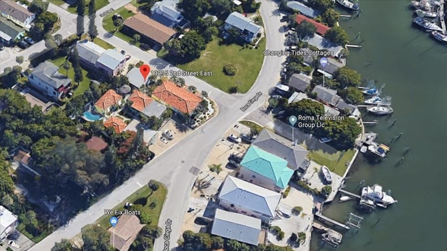 Aerial of Cottages off Intracoastal