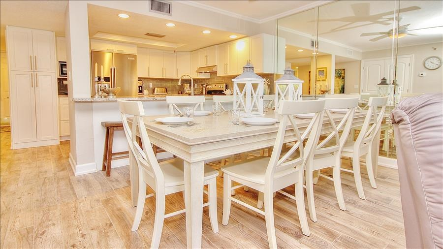 Dining Room Table & Kitchen