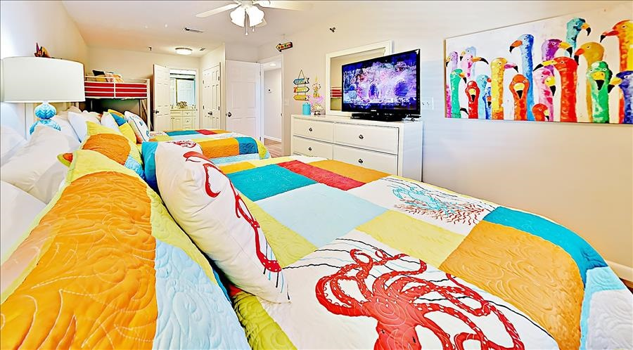 Large Colorful Guest Room