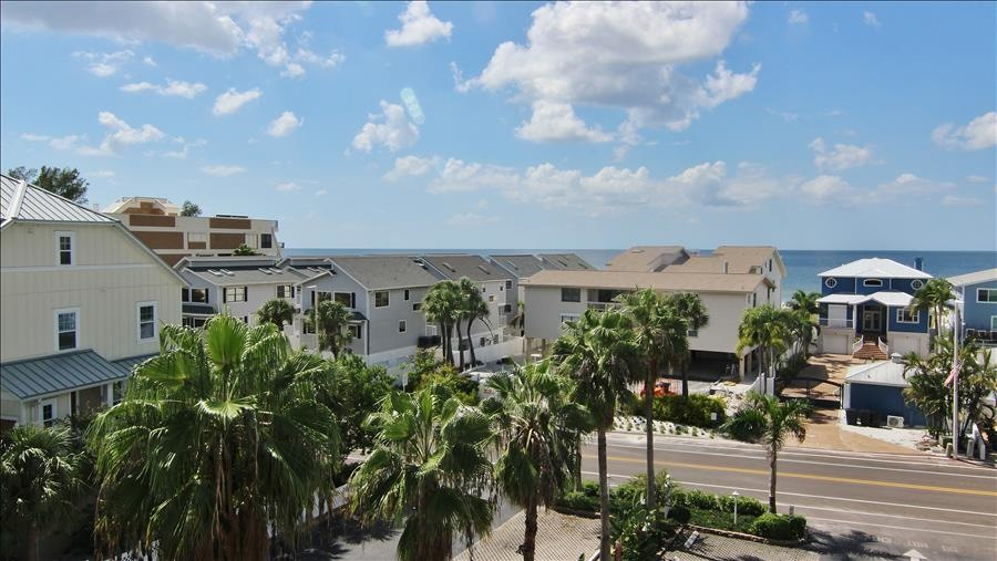 View of Gulf Blvd & Gulf of Mexico from Front Door of Unit