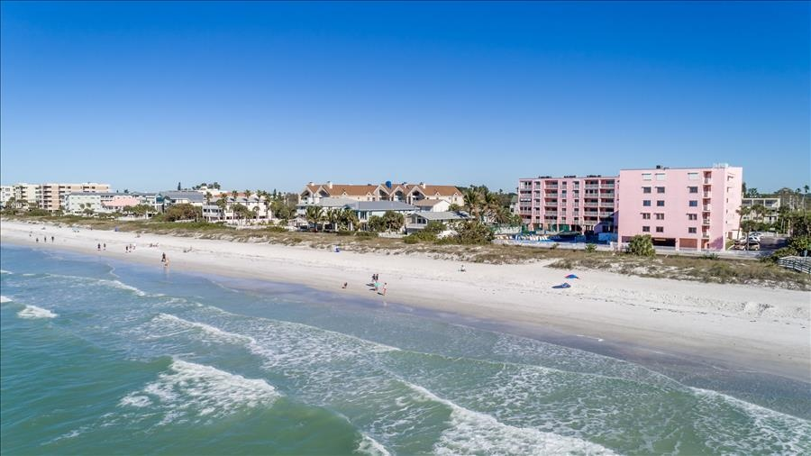 Aerial of Complex on Beach