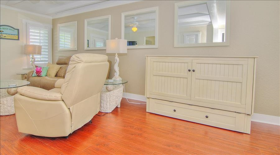 Closed Murphy Bed & Recliner