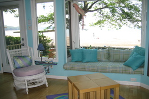 Living Room with Bay Window Seat