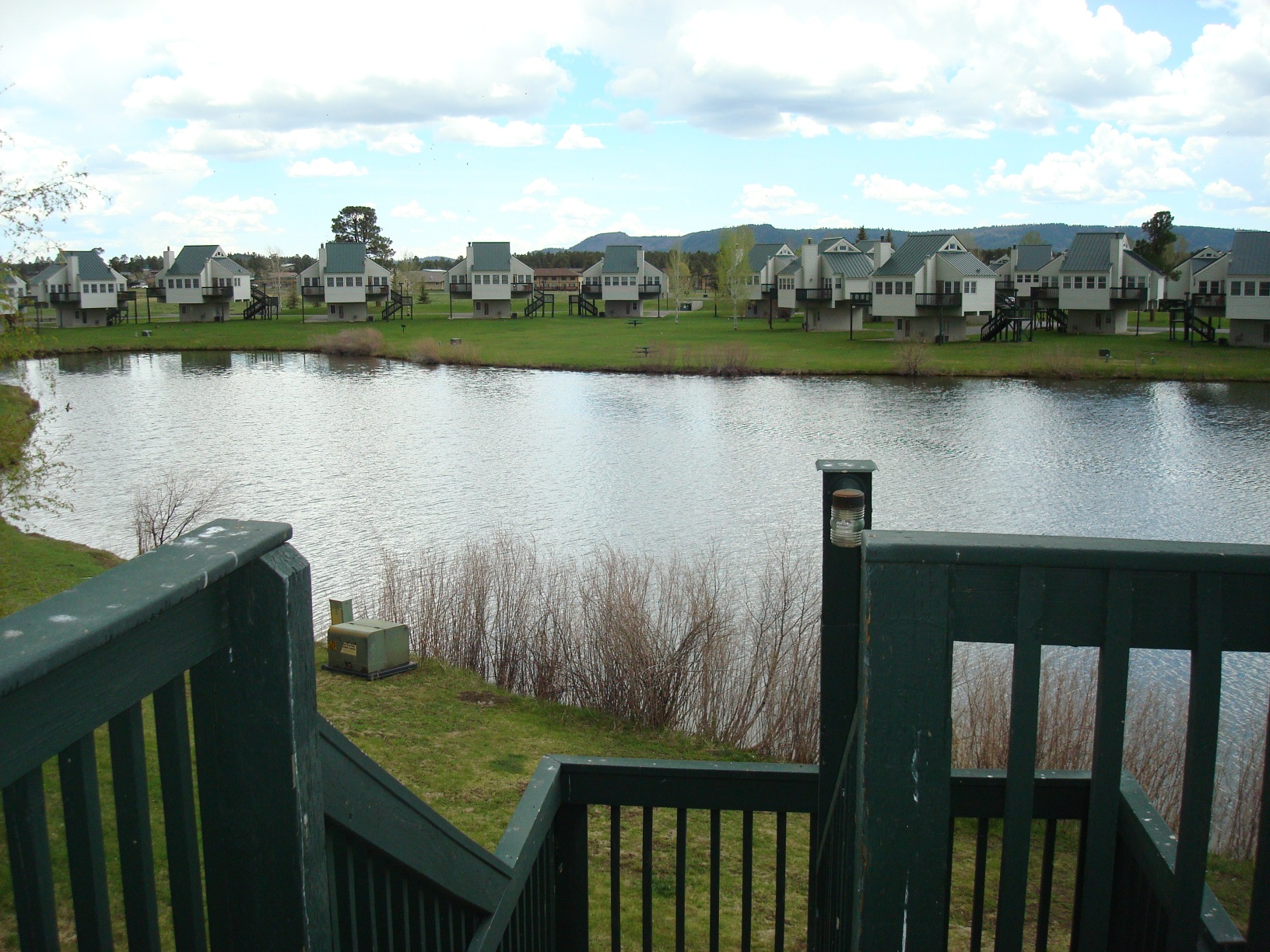 View of houses from deck
