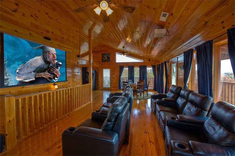 Mountain lake lodge 5 bedroom vacation cabin rental for Gatlinburg cabins with fishing access