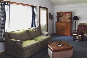 one of six cabin living rooms