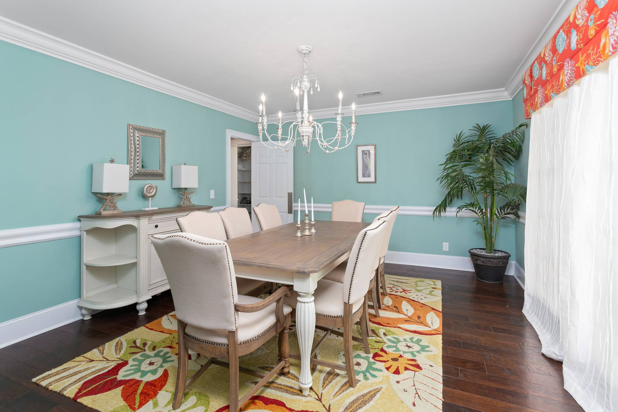 Dining Room at 154 Gould St on St Simons Island