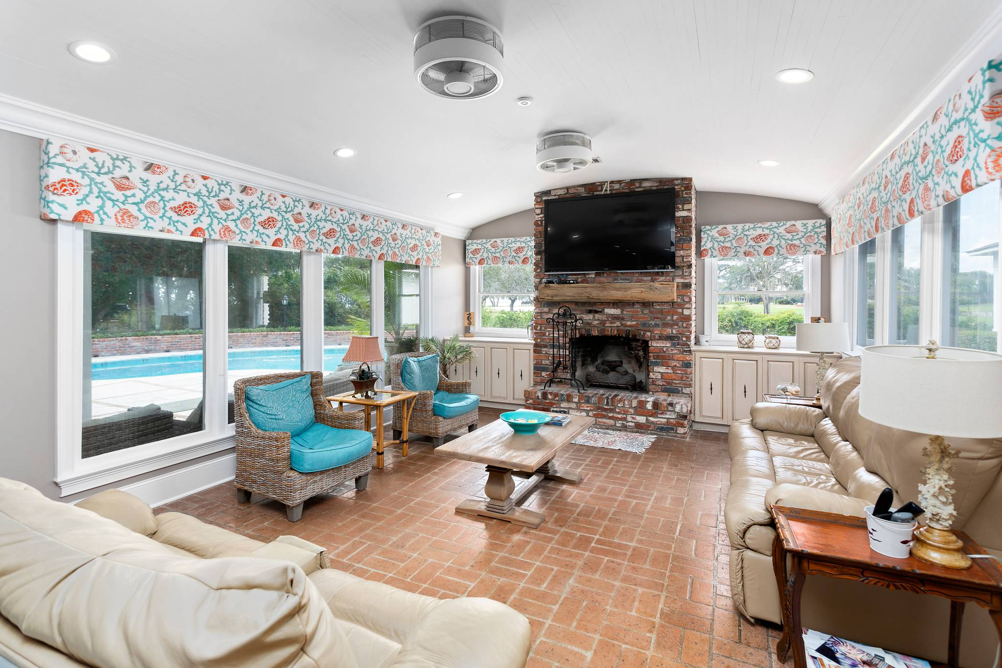 Living Room at 154 Gould St on St Simons Island