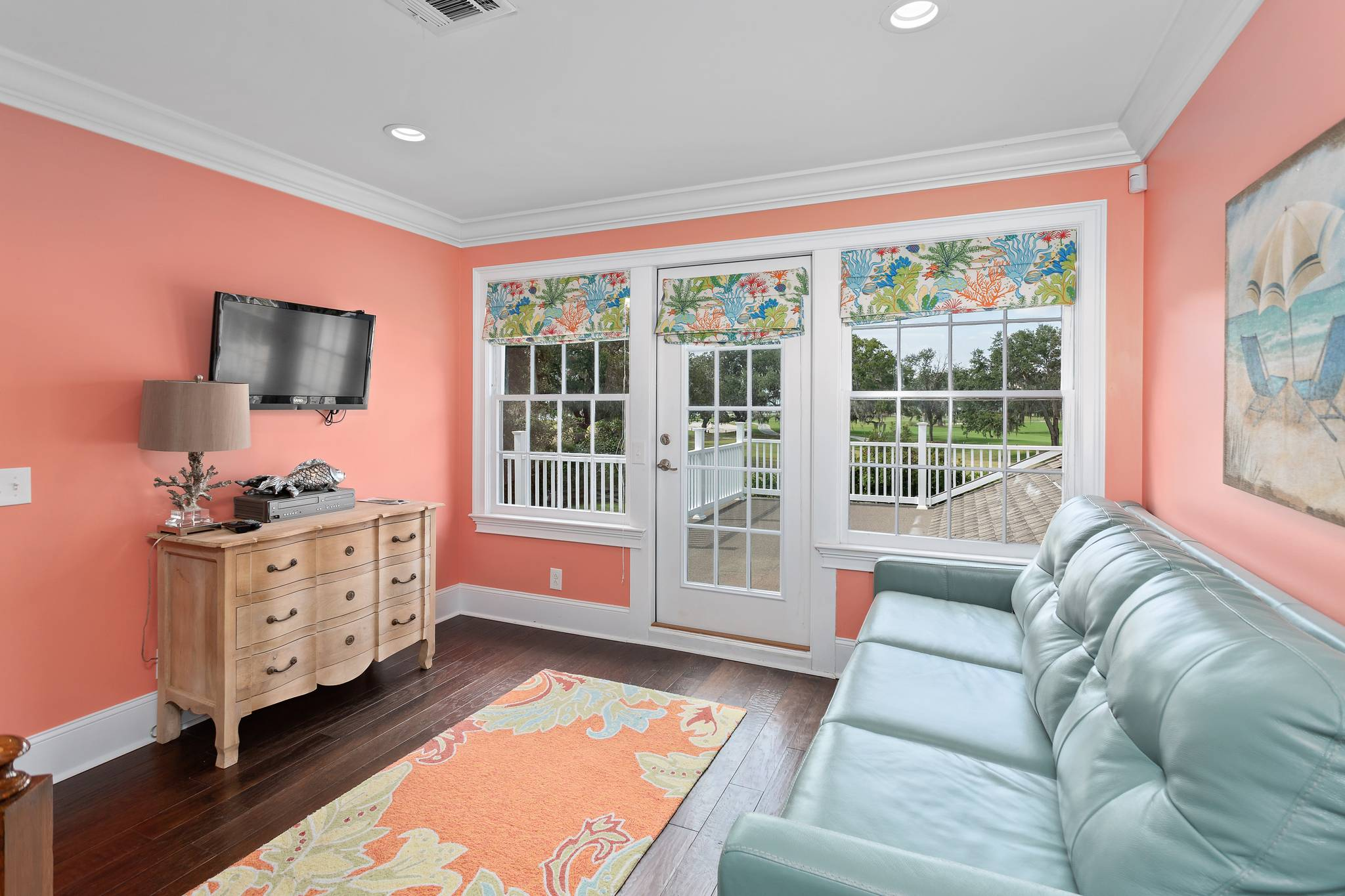 Family room  at 154 Gould St on St Simons Island