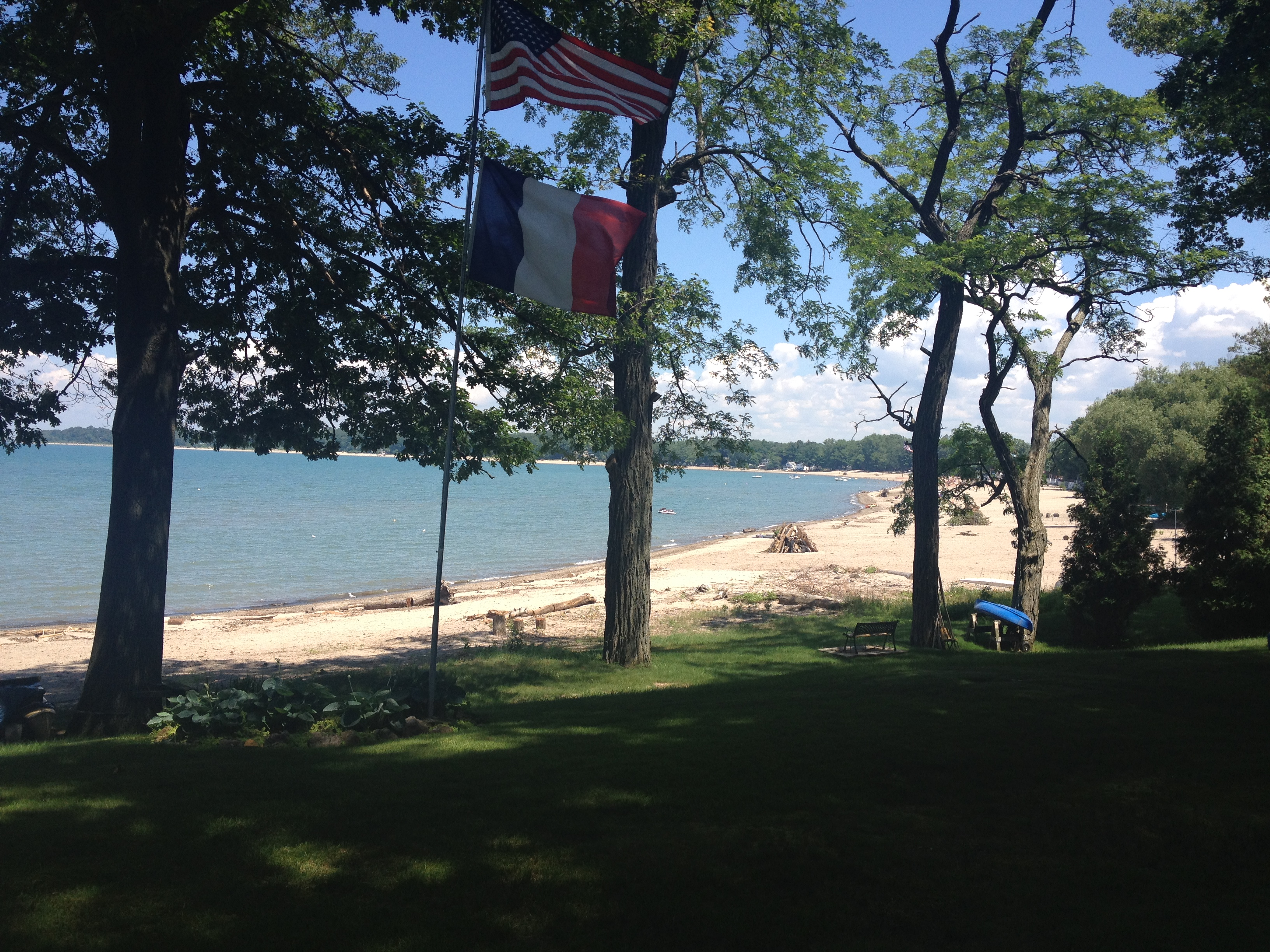 Daytime View Of The Beach And Lake From Right
