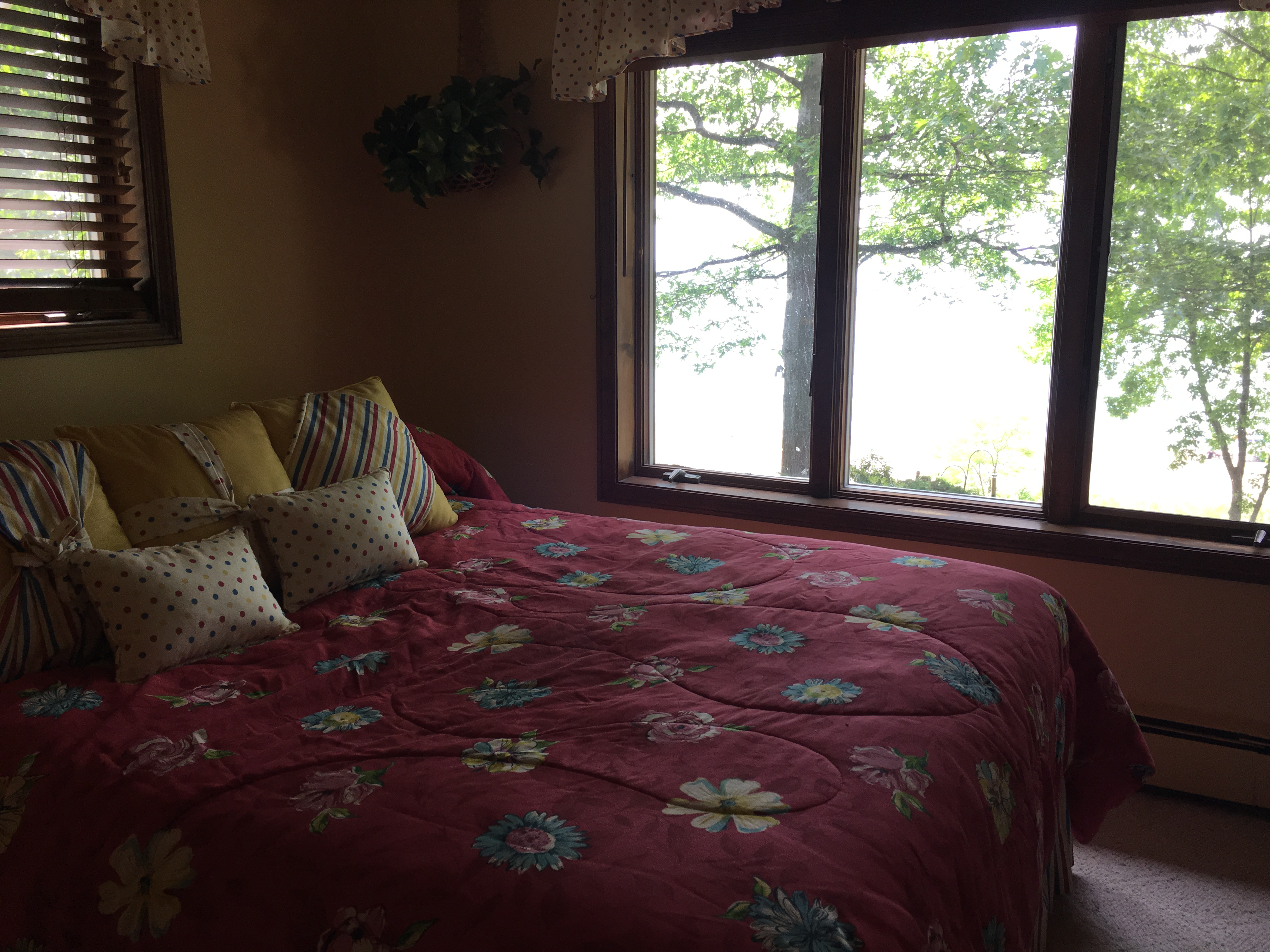 Bedroom 2 with lake view - Queen bed