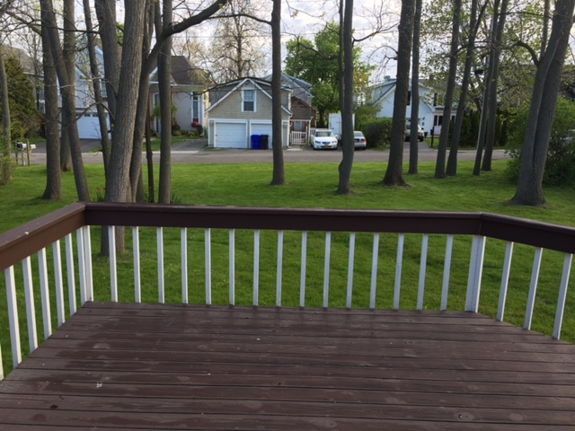 Deck with grill on patio