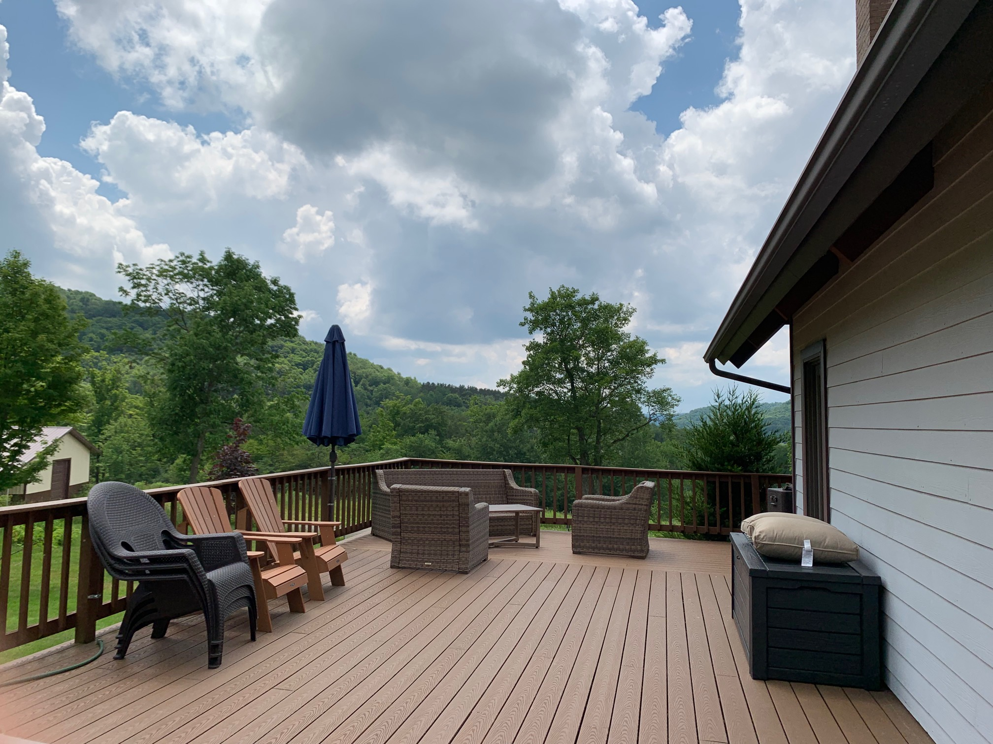 Views on this expansive deck