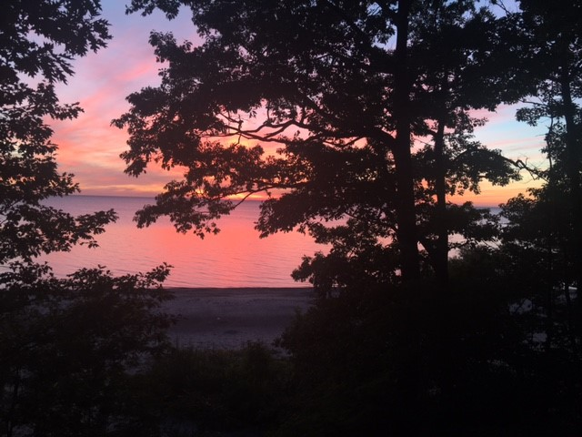 Sunset View from the Lower Deck of the Angola Beach House
