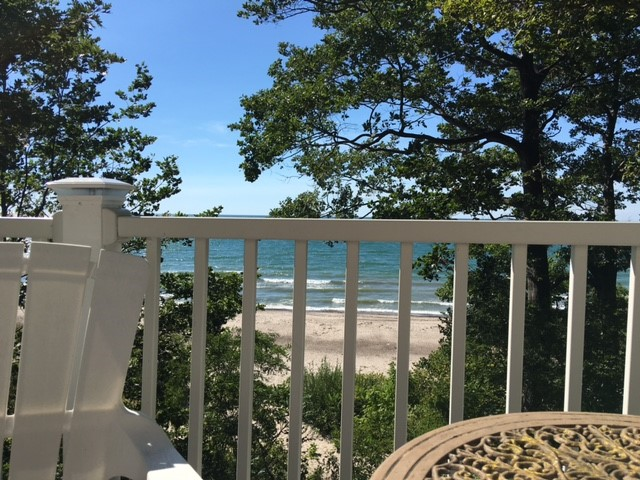 View of the Beach from The Angola Beach House upper deck