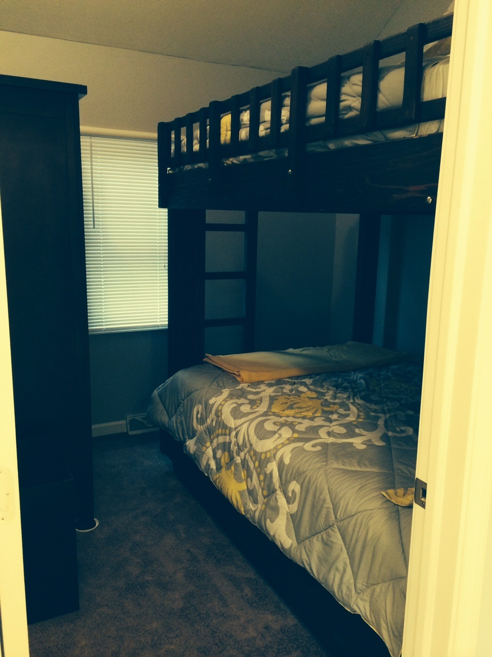 Bedroom 2 - Bunk Bed with Double on Bottom and Top