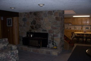 Fireplace on first level