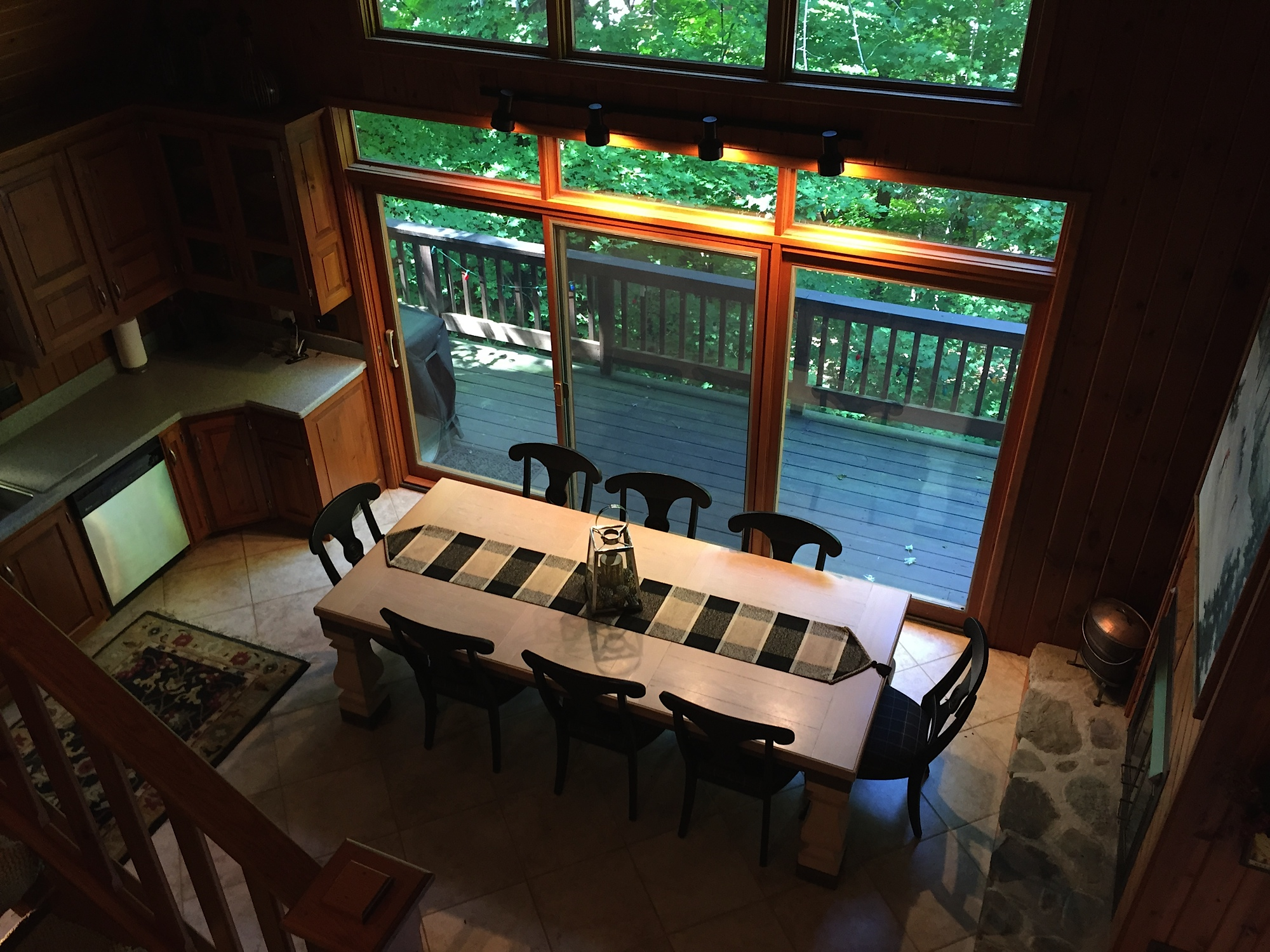 Upstairs View of Dining Area
