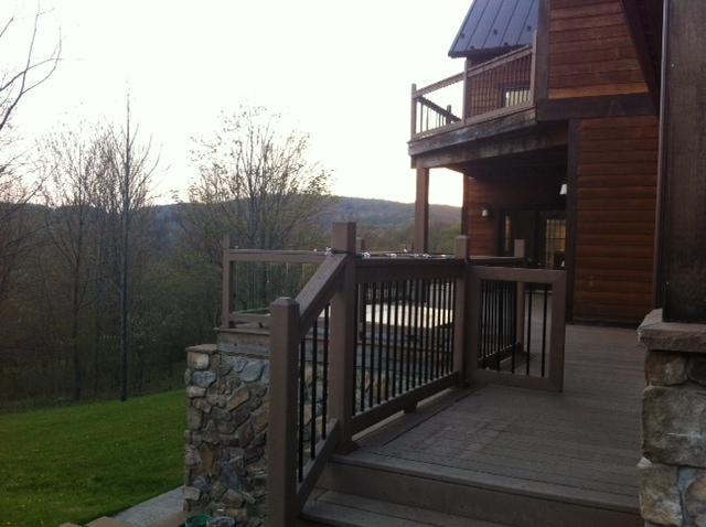 Wonderful Deck with View of Holimont Ski Slopes