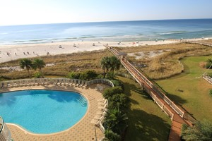 Beach front vacation rental with pool in Perdido Key