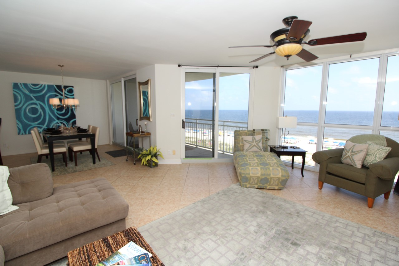 Pool and Gym at this Beachfront condo in Perdido Key, FL